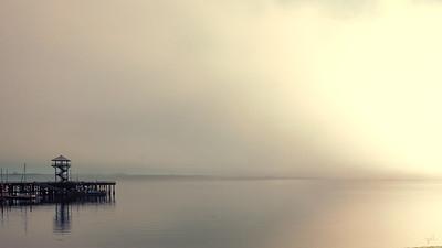 Sunrise in the fog