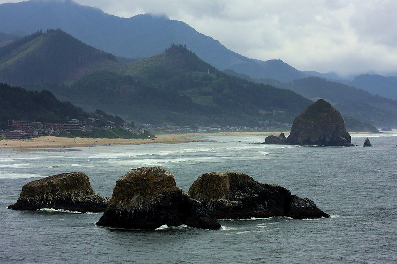 Canon Beach and Hay Stack Rock (in the distance)