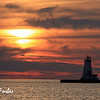 Sunset, Ludington Lighthouse