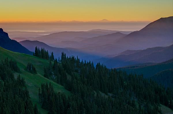 Sunrise Layers, Hurricane Ridge Olympic National Park
