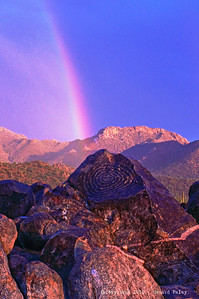"""Rainbow on the Hill"", Signal Hill, Tucson, Arizona"