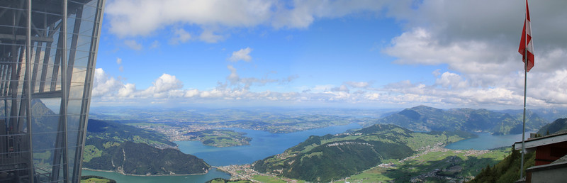 Stanserhorn, NW, Switzerland 26.8.12 /w Lake Lucerne, City of Lucerne, Rigi, Mythen