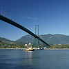 Tugboat under Lions Gate Bridge