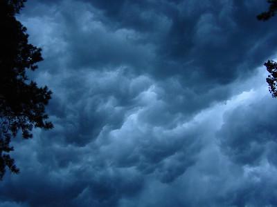 Summer storm clouds in my back yard. Salt Marsh Point, Va. Beach