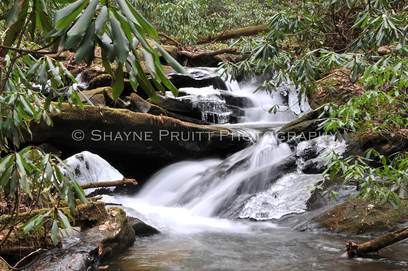 Mountain stream in East Ellijay, Georgia