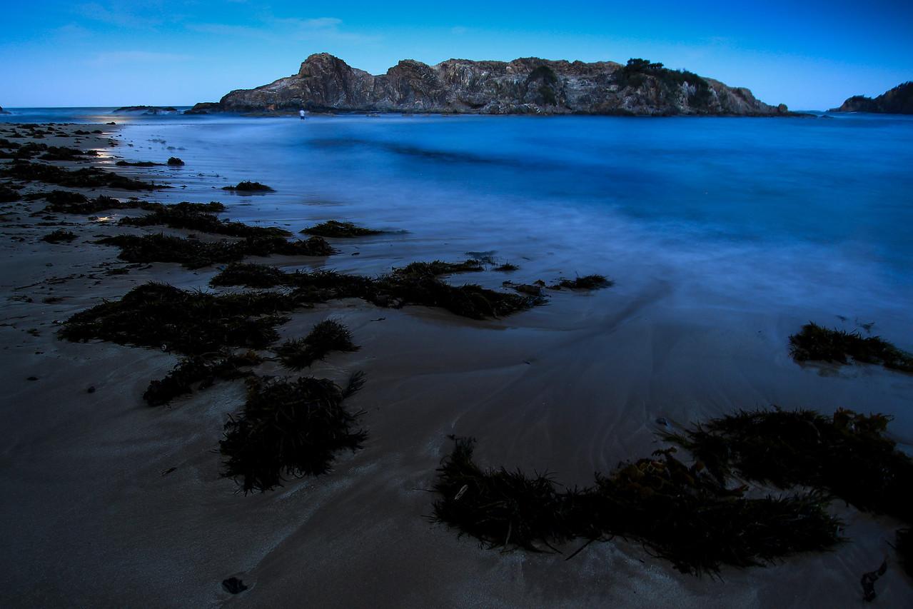 Moon light and the beach