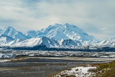 Snow Kissed Denali Landscape Denali National Park Alaska © 2014  TNWA Photography / Debbie Tubridy
