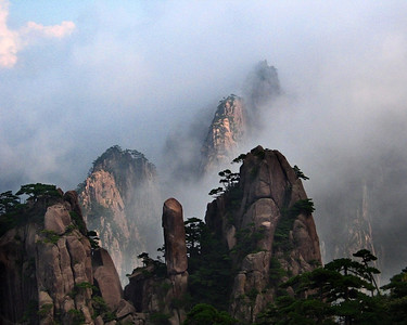 Yellow Mountains in mist, China