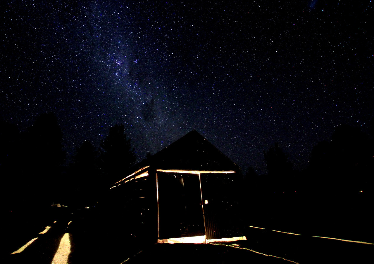 The Milky way and shed