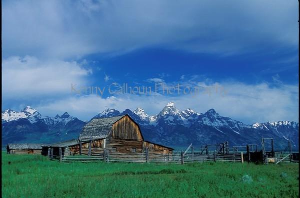 Morman Barn and the Tetons