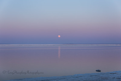 Full Moon Rising Over Whitefish Bay