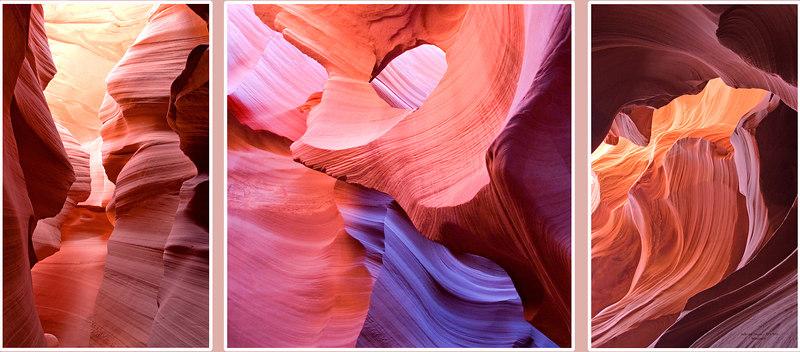 Lower Antelope Canyon (3 Shots). Page, Arizona - 2005