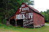 Old Barn used to advertise Rock City along US 19 in Bryson City NC