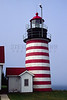 Quoddy Point Lighthouse in Lubec, ME.  Scan from 35mm transparency.