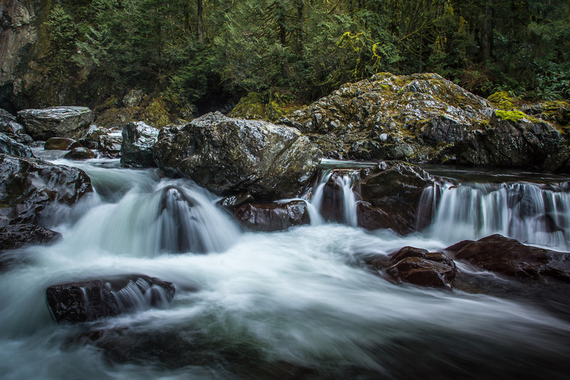 Twin Falls in Olallie State Park. North Bend WA