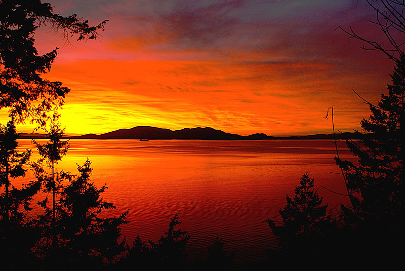 This image was made looking from Chuckanut drive toward Anacortes Washington.