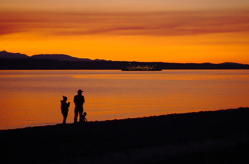 Silhouette at Edmonds Marina.