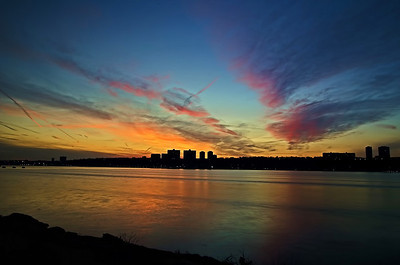 Sunset over New Jersey