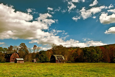 Autumn, Barns, Upstate New York 2010