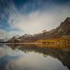 Goldener Oktober am Ufer des Silsersees....