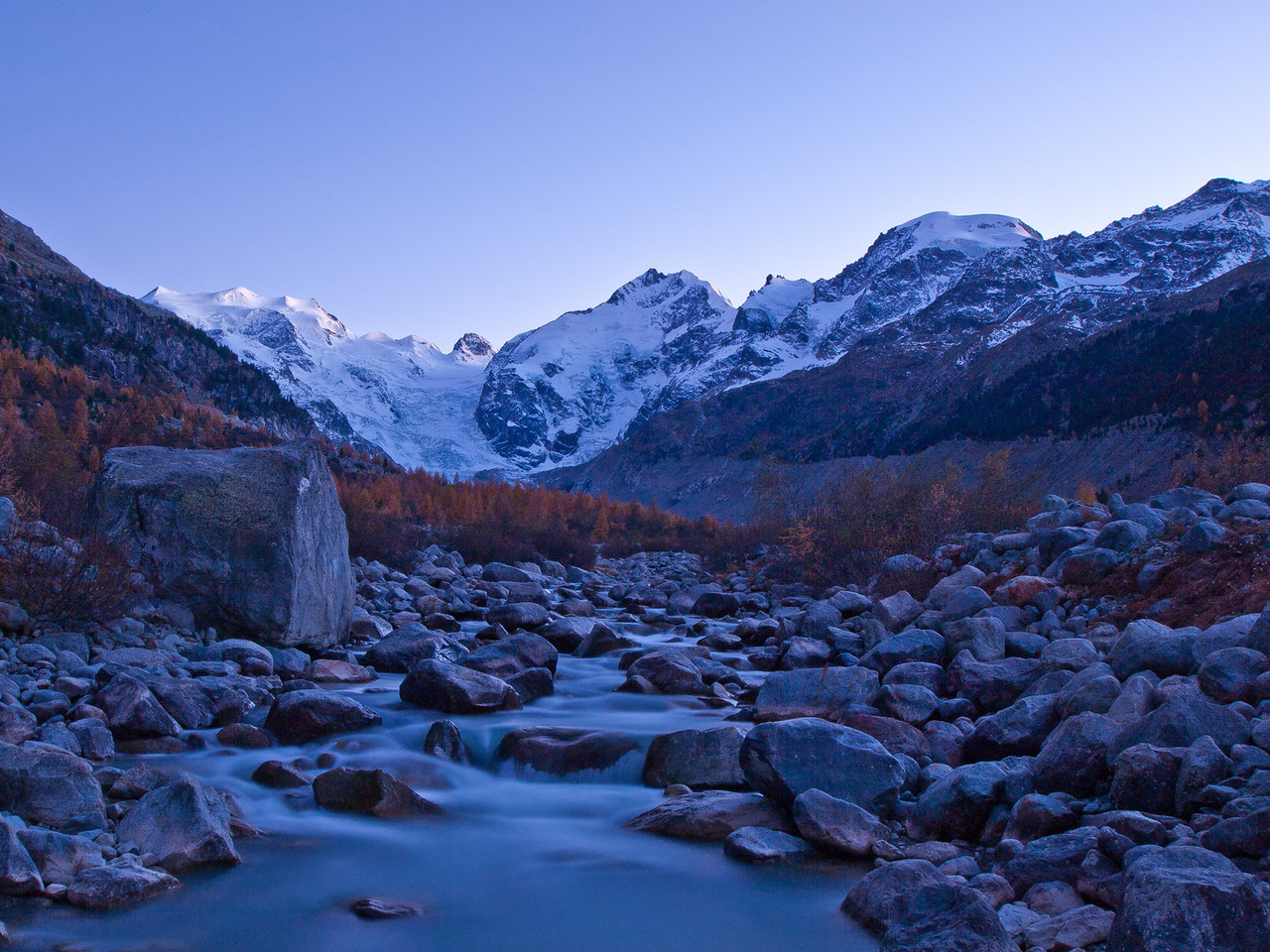 Frostige Stimmung in der Val Morteratsch