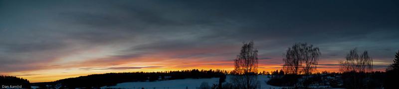 Kveldspanorama fra Ås, 30. jan 2011