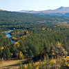 Norwegian landscapes, autumn colours, Folldal, Central Norway.