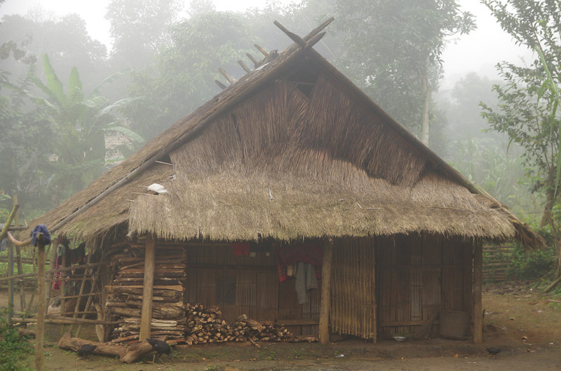 Solid Wooden Bamboo House in Luang Prabang Province
