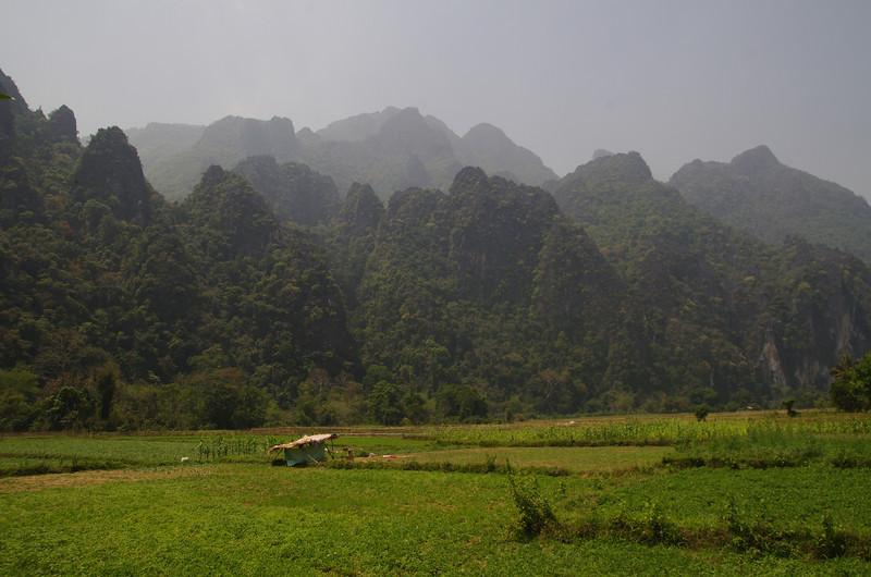 Dry season in Vang Vieng District