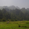 Dry season in Vang Vieng District