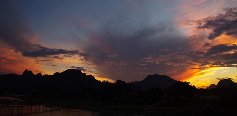 Vang Vieng, Sunset