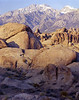 Alabama hills, sunrise, eastern Sierra Nevada mountains