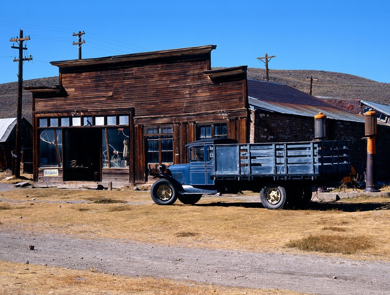 Truck and storefront, Bodie State Historical Park