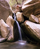 Boulders and small waterfall, Zion National Park