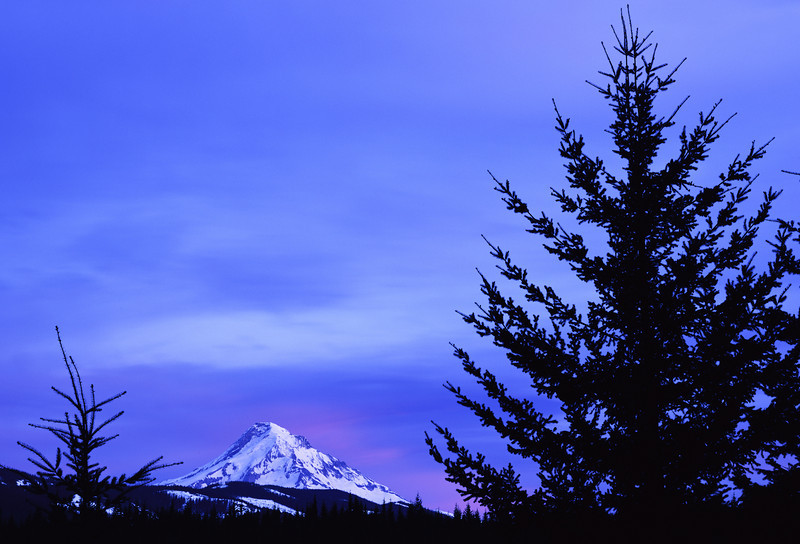 Sunset at Mount Hood -- 210mm Schneider lens, Fuji Velvia 100
