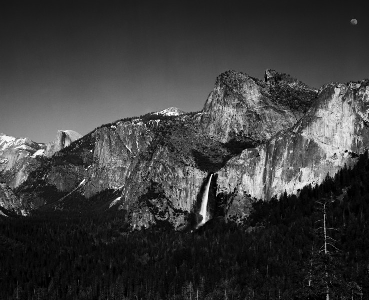 Yosemite Valley.  500mm Nikon Tele ED lens, Wratten Red 5 filter.  Fuji Acros black and white film.  March 2008