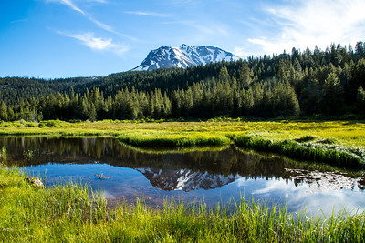 Hat Lake (the headwaters of Hat Creek), Lassen Volcanic National Park in June 2013