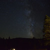 Milky Way over the Drakesbad hot pool.<br /> The dark nights provide a spectacular display of stars.