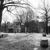 Black and White of the John Harvard Mall