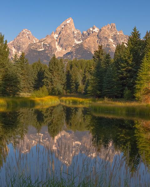 Grand Teton morning view, Wyoming