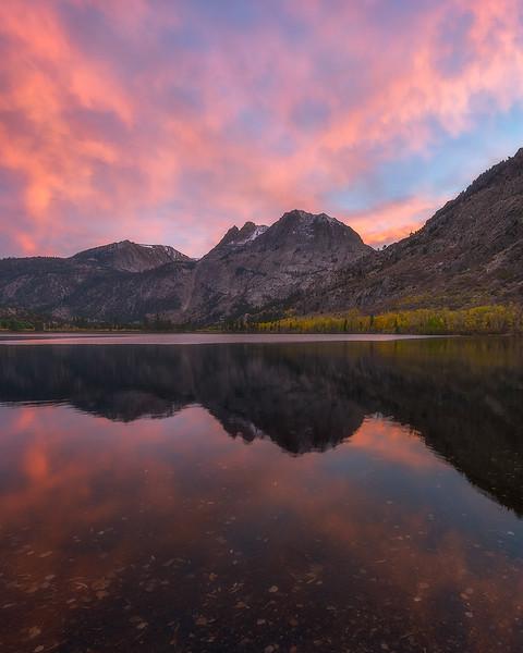 Silver lake sunset, Eastern Sierra