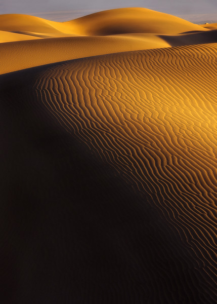 Around the Bend. Mesquite Dunes, Death Valley, California.
