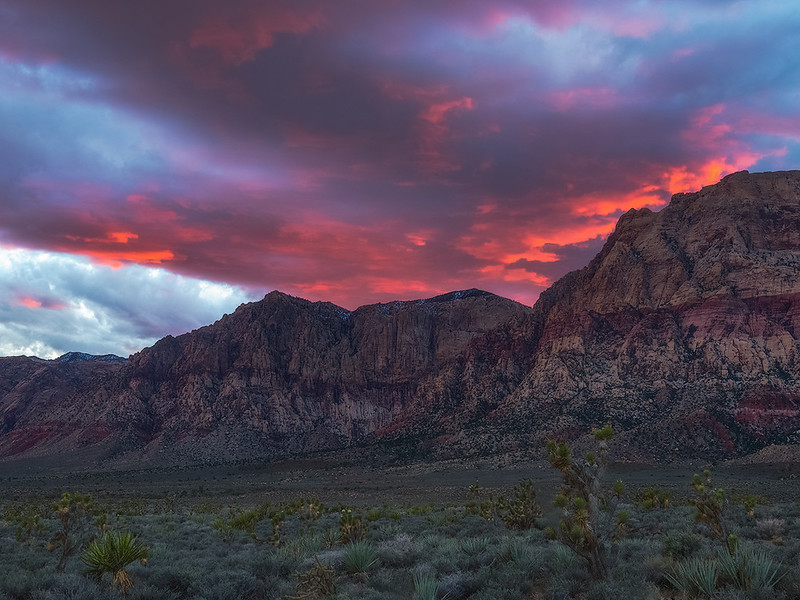 Red Rock sunset, Nevada