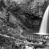 100  G Upper Latourell Falls and Bridge S BW