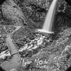 96  G Upper Latourell Falls and Bridge Circle BW