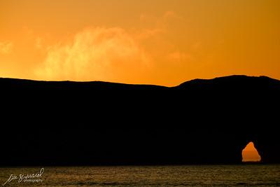 Rocher Percé silhouette