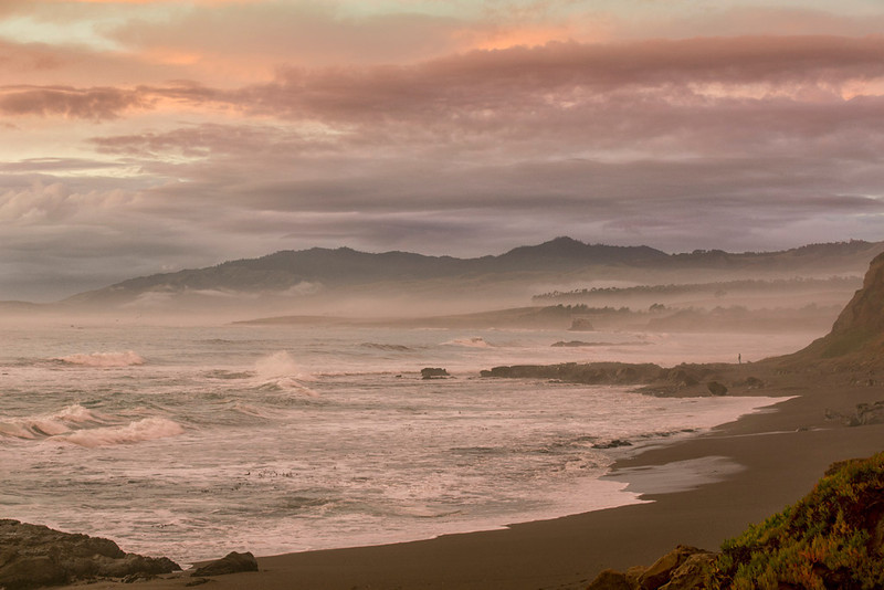 Afterglow <br /> San Simeon Beach, California