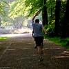 Jogger in Clara Zetkin Park