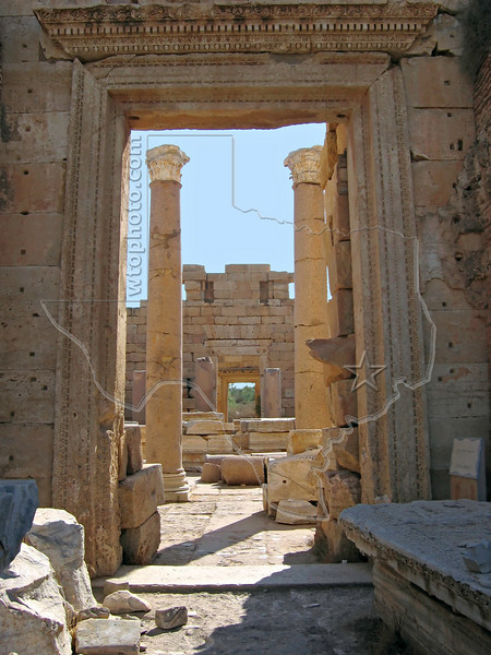 Leptis Magna - Roman Ruins - World Heritage Site<br /> Al Khums, Libya