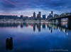 Blue Hour View of Downtown Portland